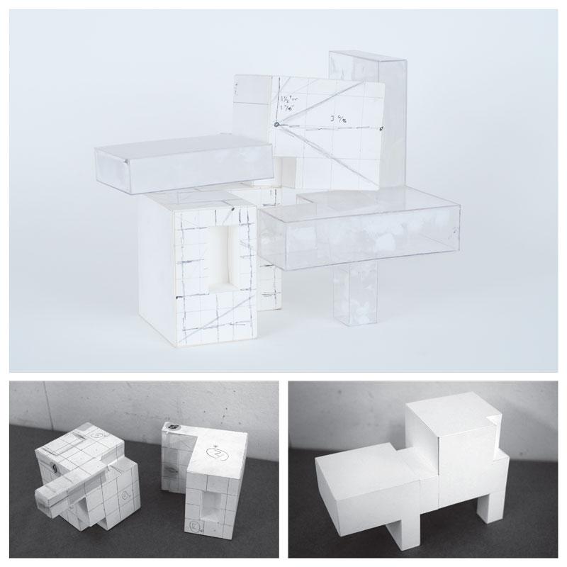 architecure model 3d drawing