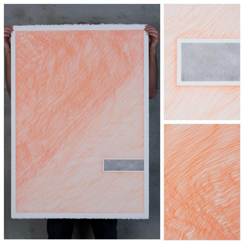 orange drawing paper