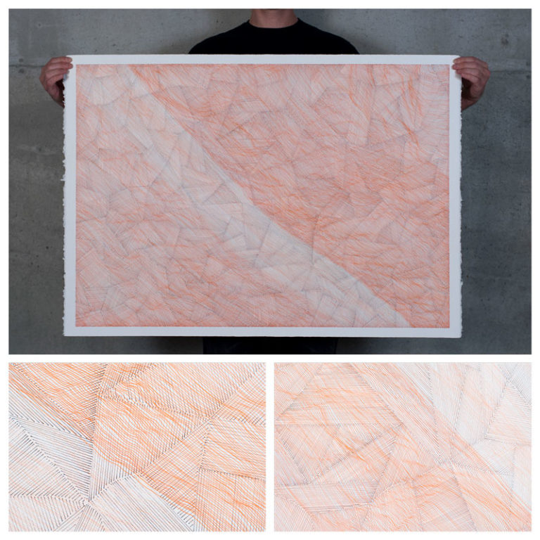 Orange Linescape with Triangulation