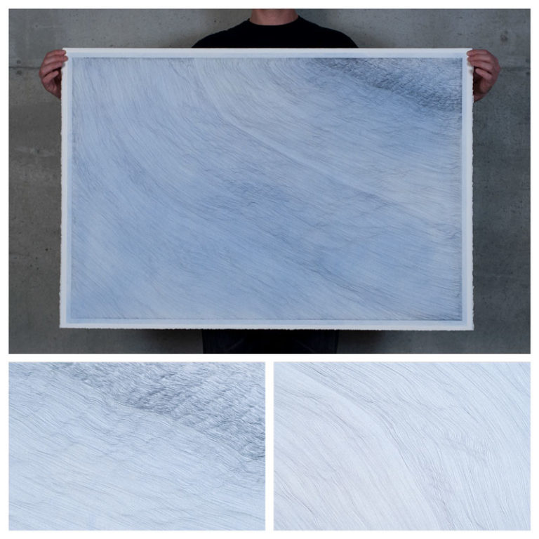 blue linescape map topography