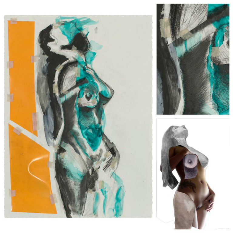 figure drawing collage