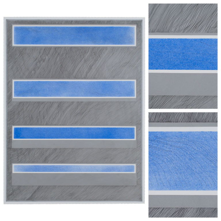 Aluminum Linescape with Blue Strips