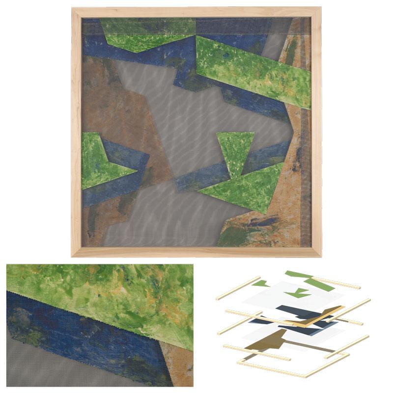 design green blue landscape